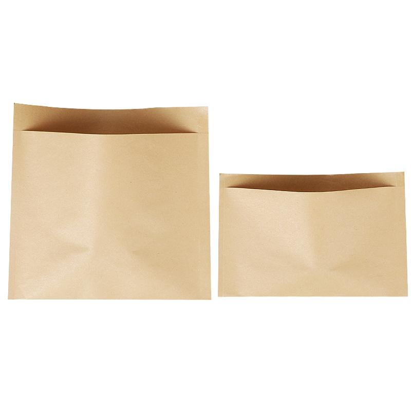 牛皮纸打包袋一次性肉夹�馍煎饼手抓饼防油纸袋�缟毡�食品包装袋子