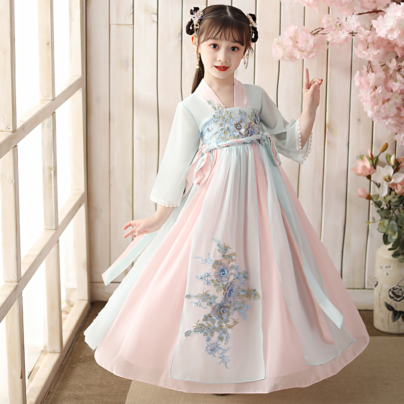 Hanfu Girls Spring Wear New 2020 Children's Long Chinese Style 10 Tang Dress Ceremony