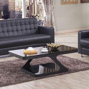 简约现代钢化玻璃茶几客厅会客办公个性家具组合