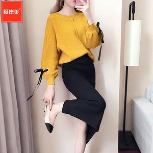 网红2018新款女气质时髦针织毛衣