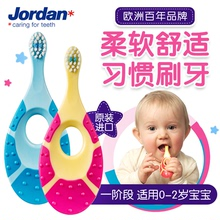 Jordan import baby baby baby fingernail brush for 6-18 months soft fur 0-1-2 age 1 segments 1.