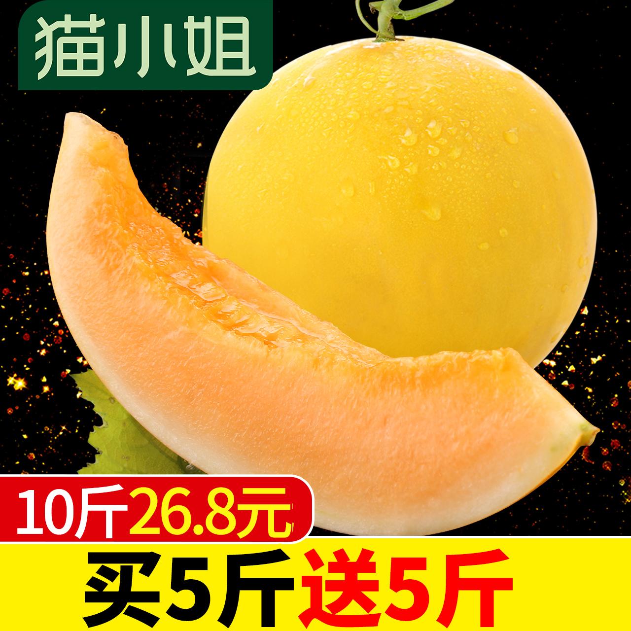 黄河蜜瓜哈密瓜 新鲜水果包邮批发带箱10斤非羊角蜜甜瓜香瓜网纹