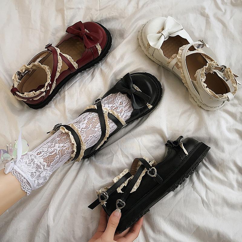 梅露露lolita鞋洛丽塔黑色小皮鞋女英伦韩版百搭夏天日系jk制服鞋