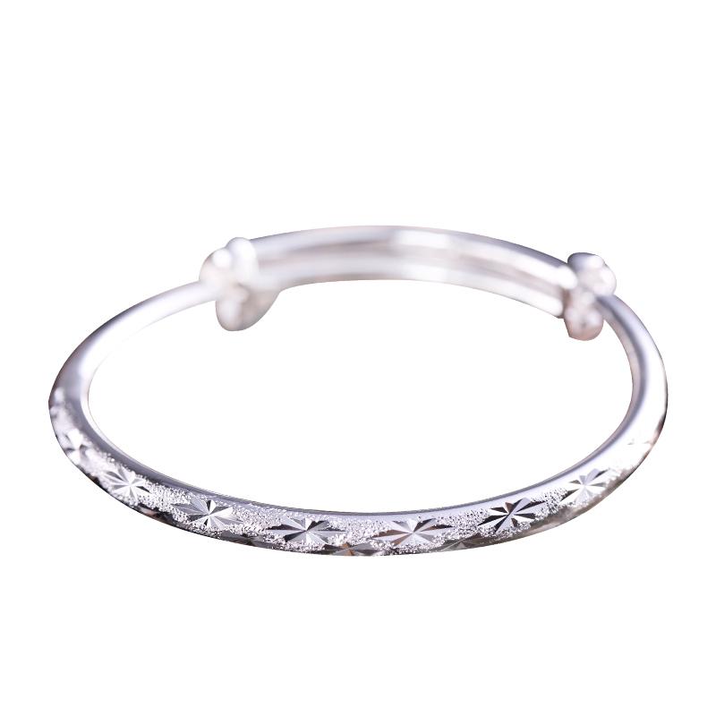 Jane · Shangyin 999 Silver Bracelet female snowflake pattern elegant and elegant couple silver ornaments for girlfriends birthday present