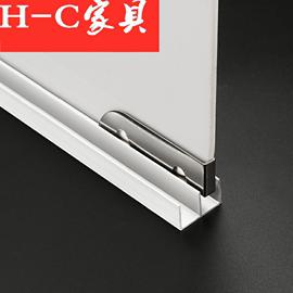 加厚5mm玻璃滑轨上下槽山字型双槽推拉移门滑轮轨道书柜橱柜导轨