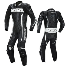 SPRS conjoined cycling suit men's motorcycle clothing track training leather locomotive clothing racing suit cool personality