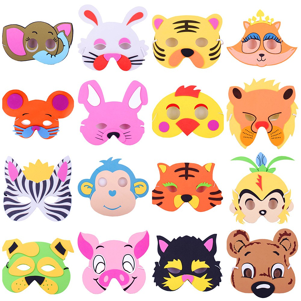 Japanese Kindergarten animal headdress childrens performance props cartoon role play mask pig baby