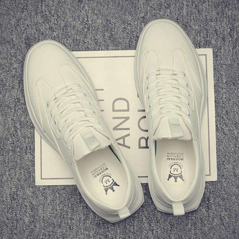 男鞋夏季2020新款透气鞋子男潮鞋韩版潮流休闲皮鞋板鞋百搭小白鞋