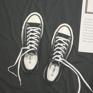 板鞋 小白鞋 男韩版 潮鞋 百搭鞋 帆布鞋 子男高帮布鞋 2019低帮经典 秋季