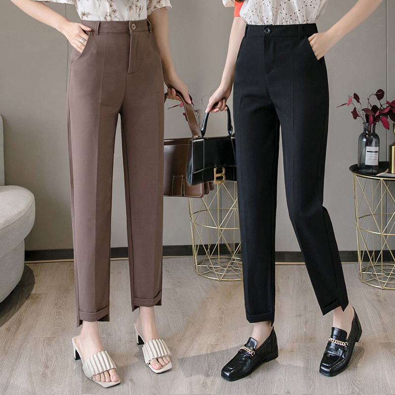 Radish pants womens spring and summer straight tube pipe suit pants