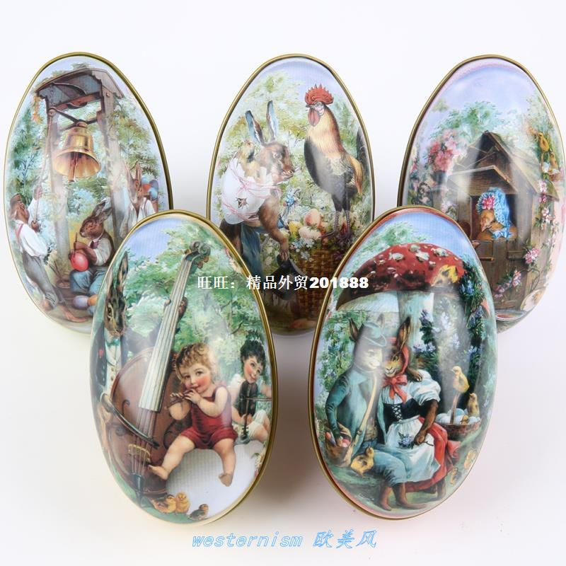 Easter E Painted Eshell Tin Boxes Pills Case Weddin Can