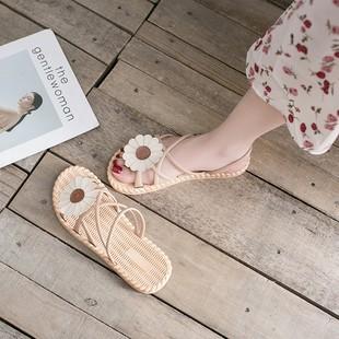 2020年夏季新款学生女士百搭ins潮平底罗马女鞋时尚仙女风凉鞋女品牌