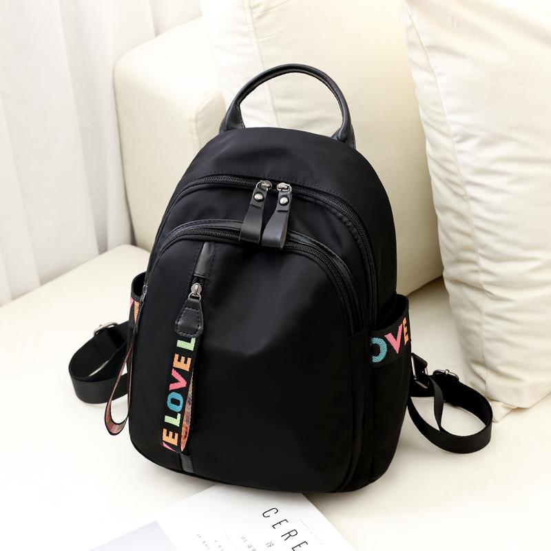 牛津布双肩包女2020新款韩版潮时尚百搭书包帆布旅行小背包女包包
