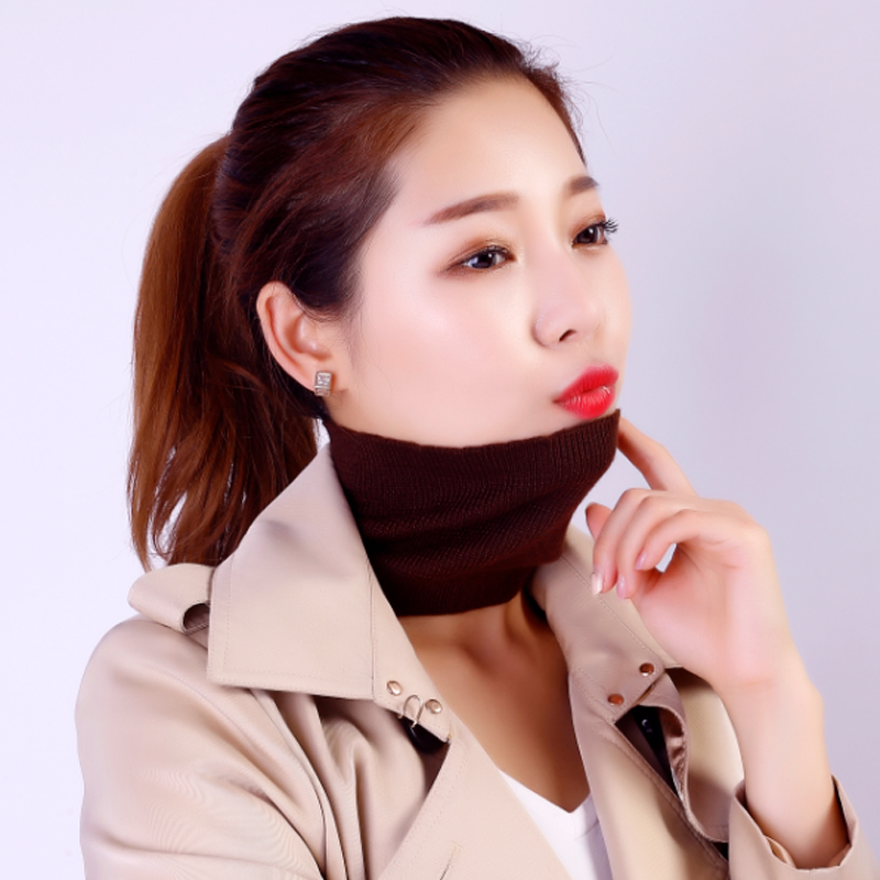 Autumn and winter cashmere neck set neck protection neck band thermal insulation fake collar knitted hair band neck set collar net red headdress