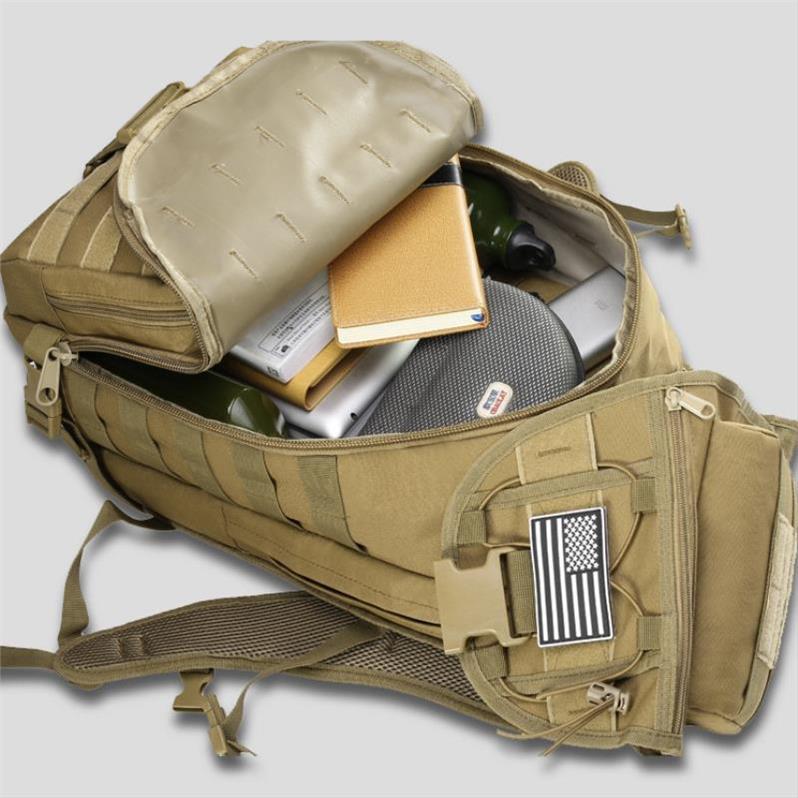 战地军迷野外骑行包户外登山包男书包迷彩背囊多功能战术双肩背包