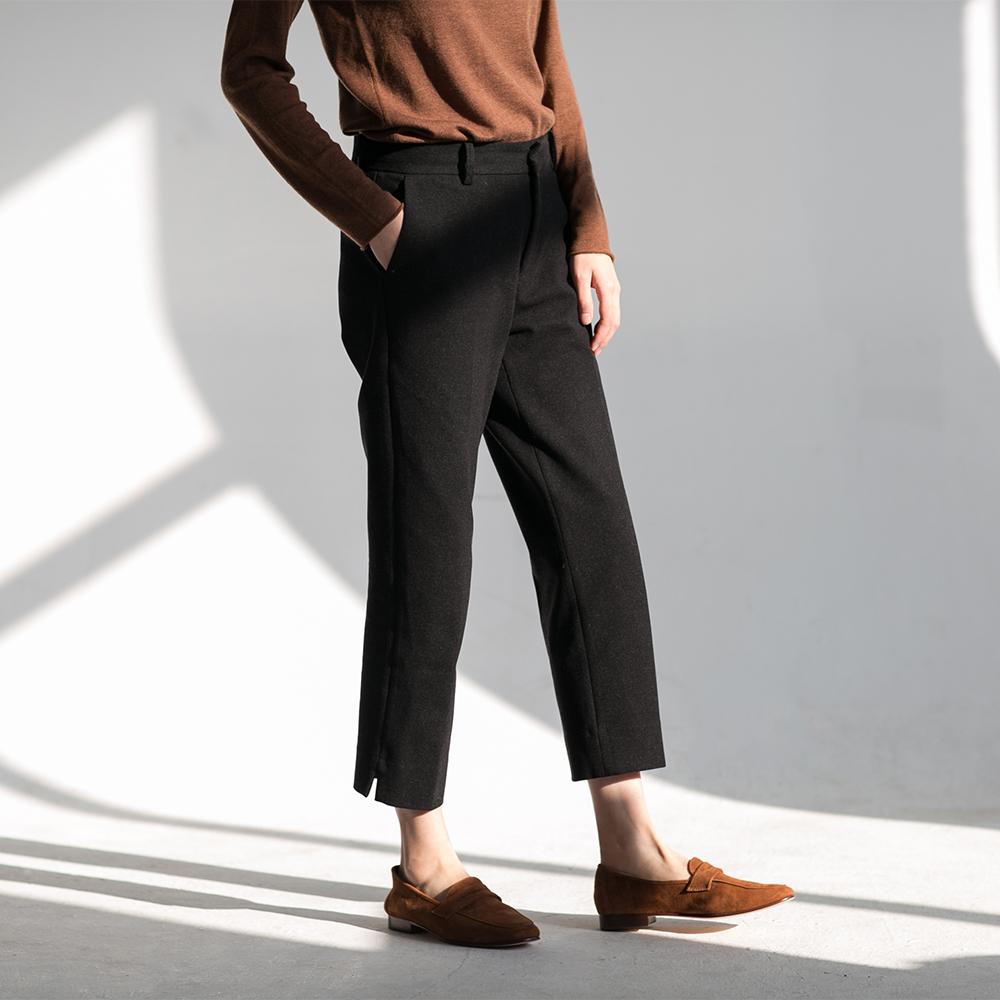 2017冬季新款 必入推荐显瘦时髦羊毛西装裤烟管裤
