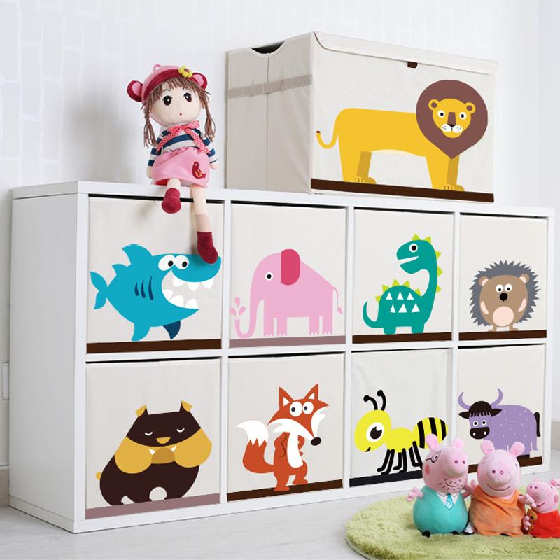 玩具收纳盒卡通整理箱儿童玩具箱储物箱玩具盒布艺收纳盒收纳箱子