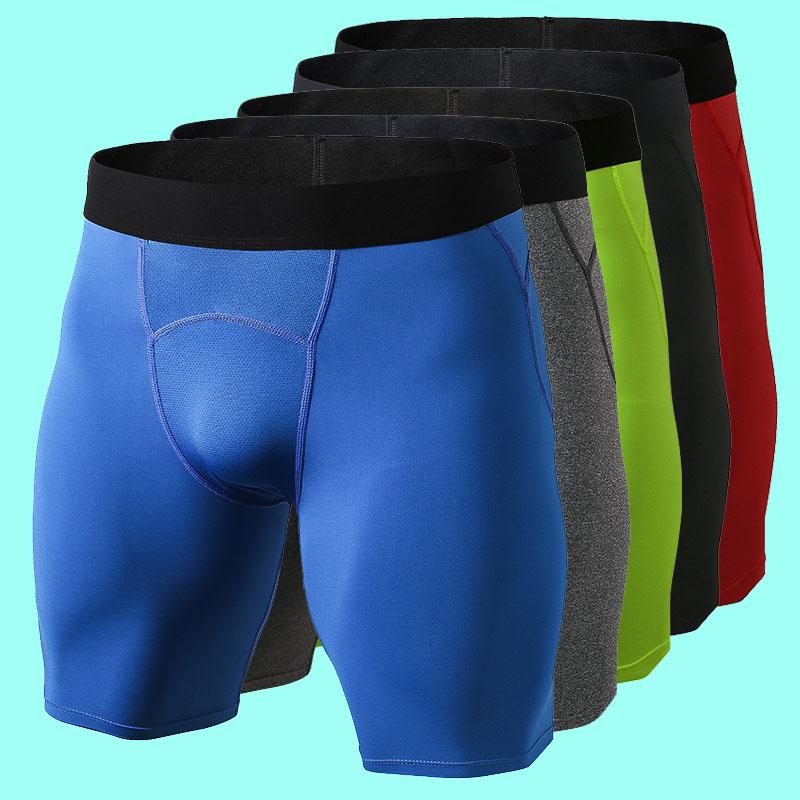 PRO运动紧身短裤男速干健身跑步弹力篮球足球铲球压缩训练五分裤