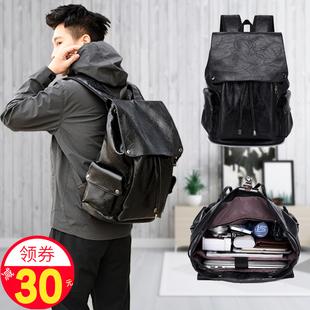 鲍蜂背包男士双肩包商务休闲简约大容量旅行学生书包户外时尚潮流价格