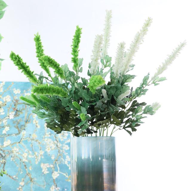 仿真花植毛绒花假花插花婚庆布置家居装饰人造花艺花瓶插花软装饰