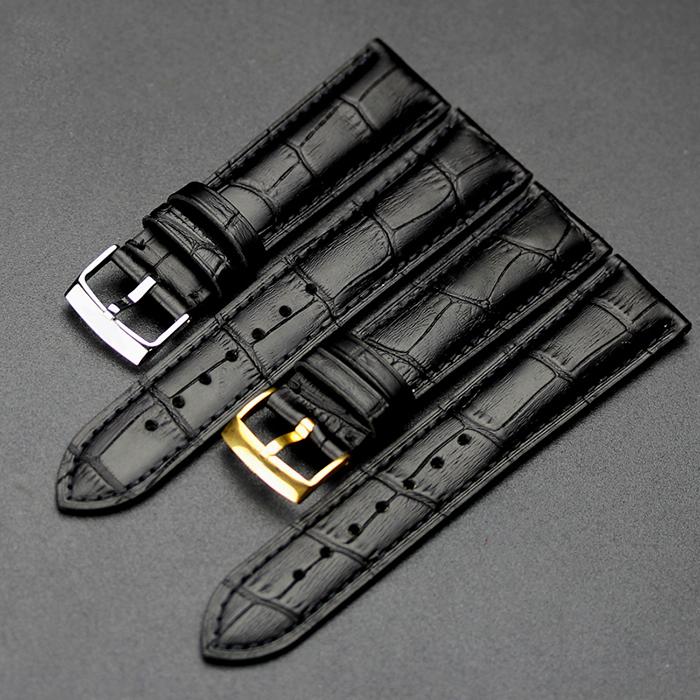 适用于欧米加蝶飞手表带真皮男表碟飞欧米加欧针扣20mm18mm19mm