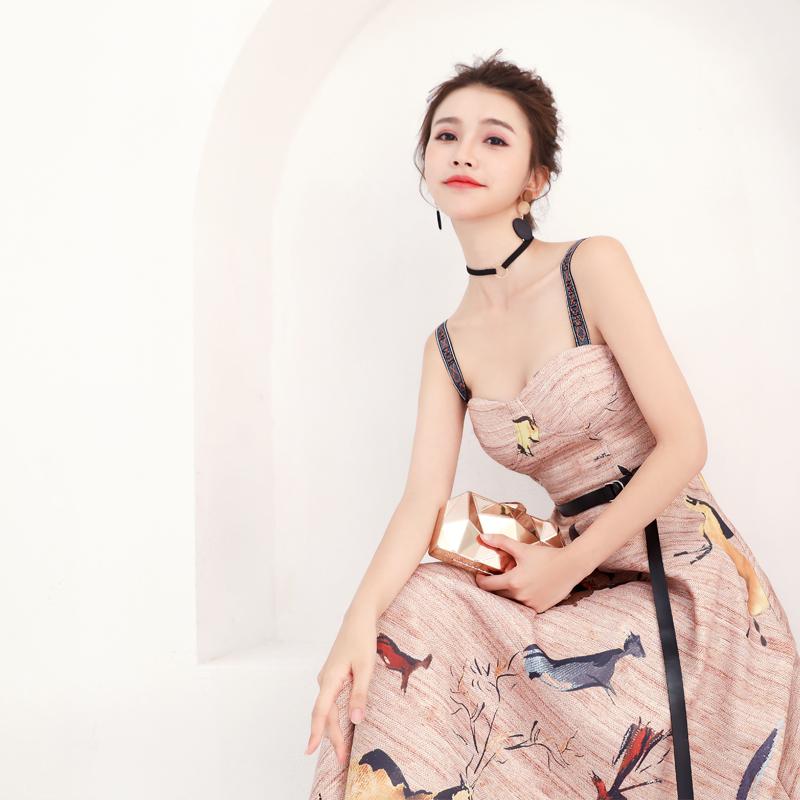 小礼服裙女2018新款夏季生日派对宴会聚会名媛晚礼服长款优雅短款