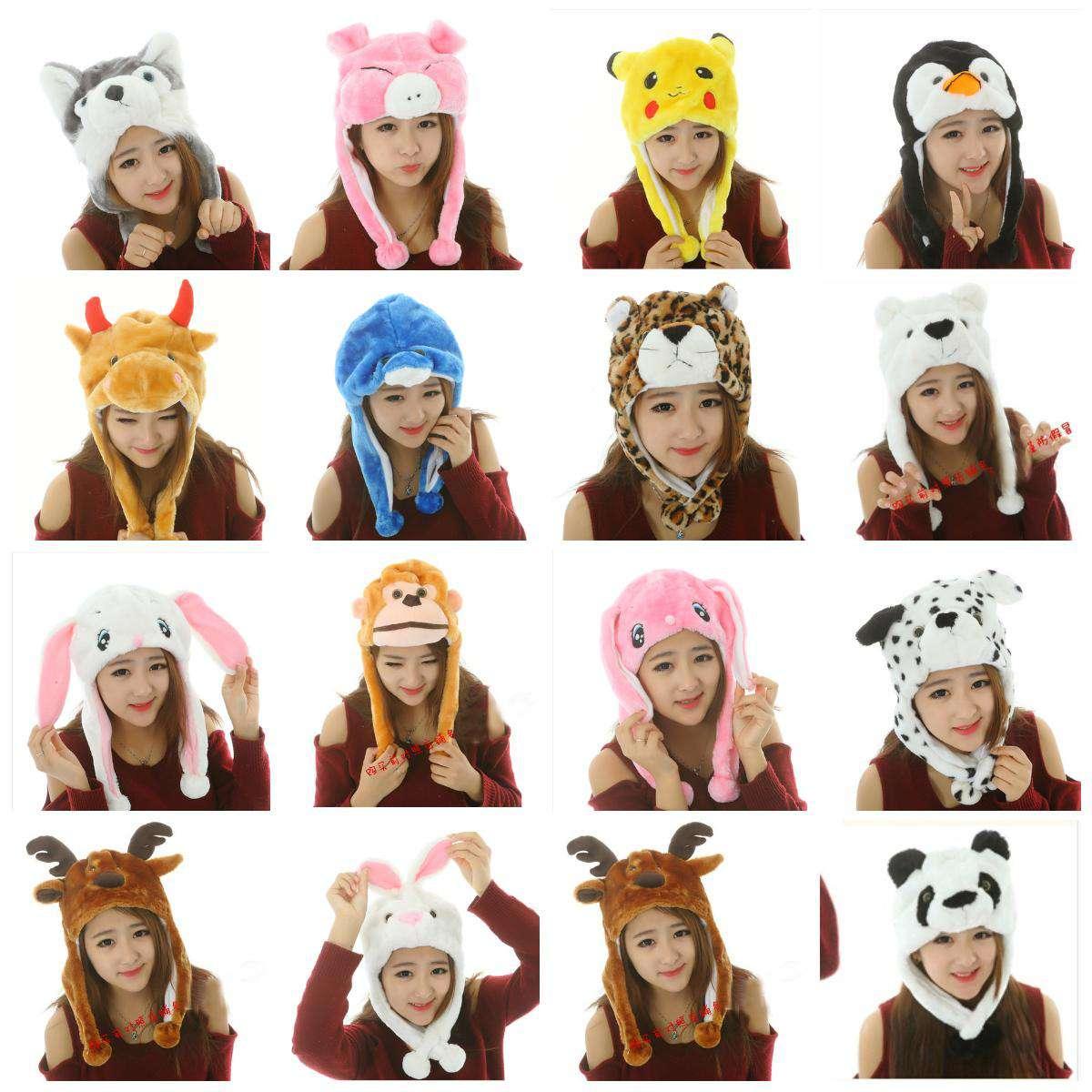 熊猫帽子成人儿童卡通动物毛绒帽女冬韩版可爱保暖情侣护耳雷锋帽