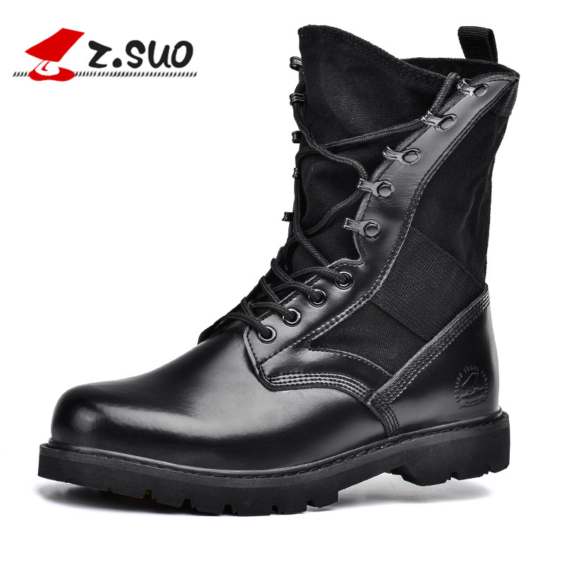 Mens shoes British army boots mens autumn and winter fashion boots desert boots mens outdoor leather boots couple boots Martin