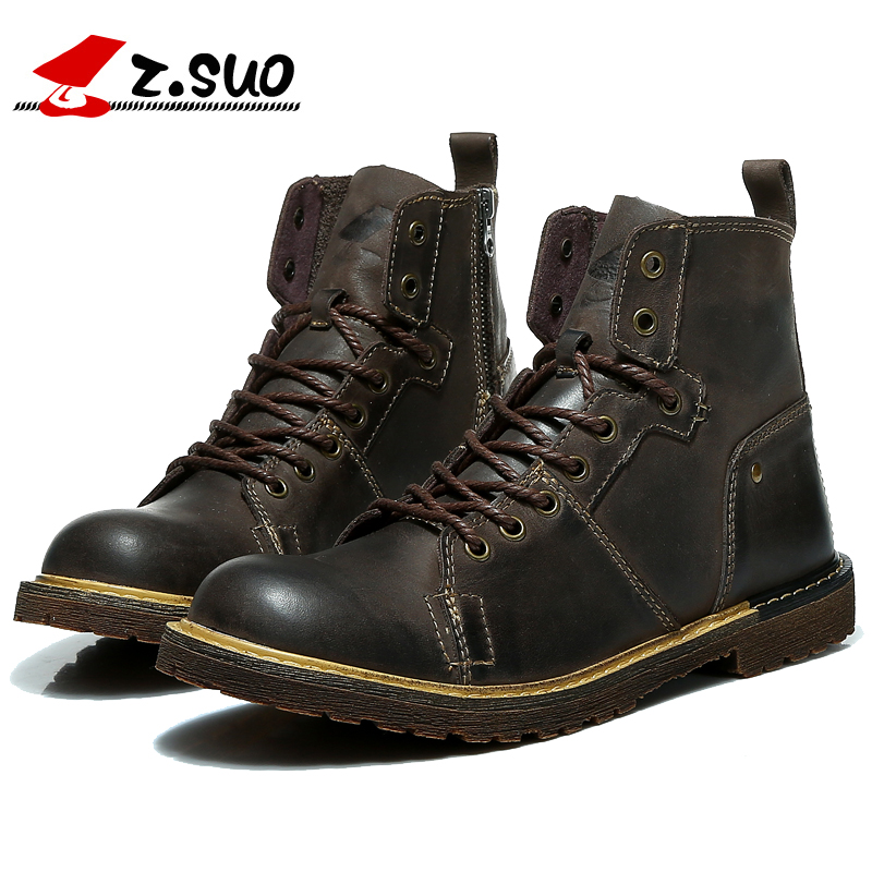 Mens shoes spring new British Martin boots mens casual shoes outdoor boots trend short boots wear resistant trend
