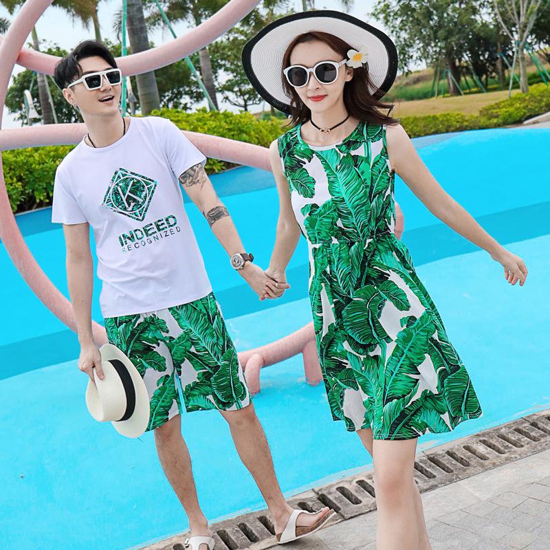 泰国三亚海边度假蜜月旅游沙滩装衣服亲子装家庭全家装情侣装海滩