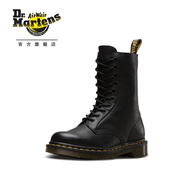Dr. Martens classic 1490 soft leather 10-hole Martin boots black British style fashion women's boots