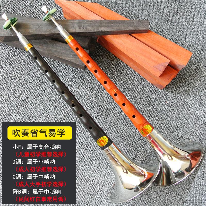燕京唢呐乐器全套 专业d调初学者民族成人入门小号喇叭送锁呐哨片