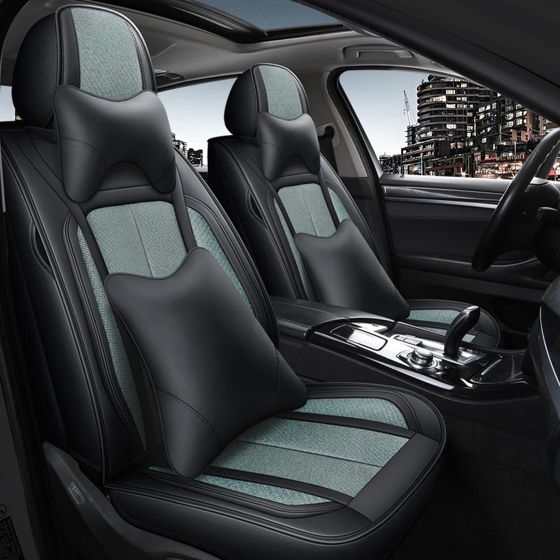 汽车坐垫皮革冰藤全包四季通用座套星瑞缤越远景X6帝豪GS缤瑞博越
