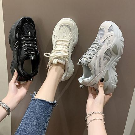 老爹鞋ins潮女鞋子2020年新款秋冬百搭小白加绒运动休闲秋季女鞋