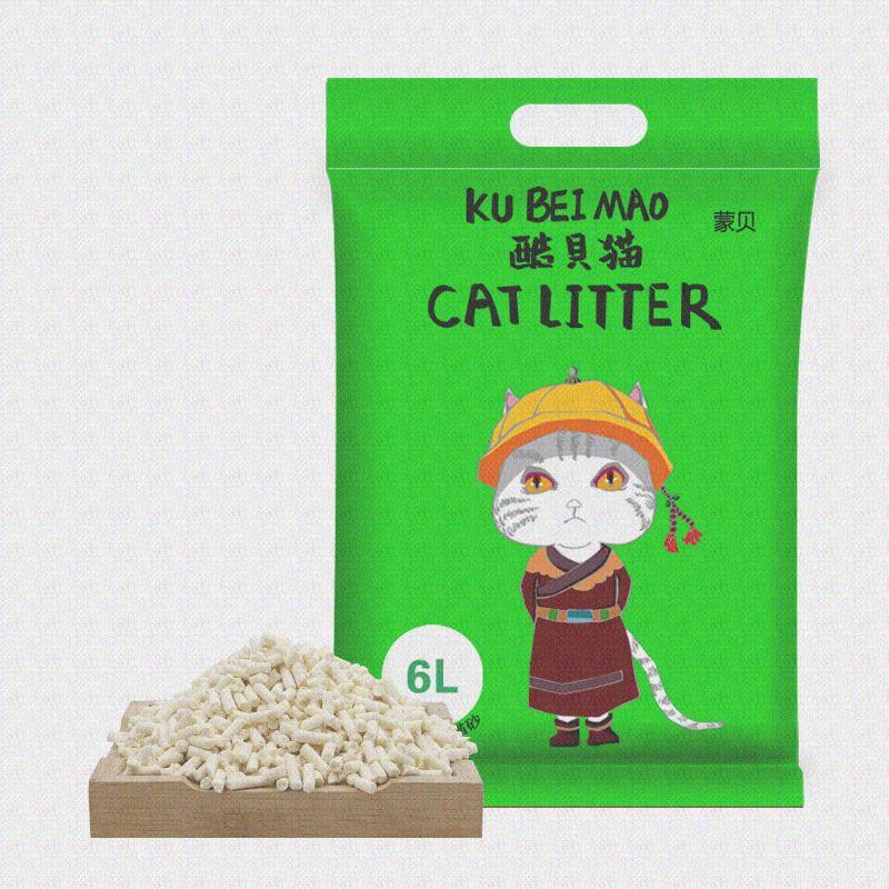 酷贝猫绿茶豆腐猫砂6L用品猫砂除臭豆腐砂低尘结团猫沙猫咪豆腐渣