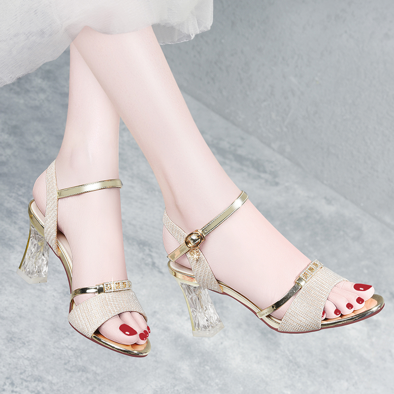 High heeled shoes lady in summer 2020 new FAIRY PARTY