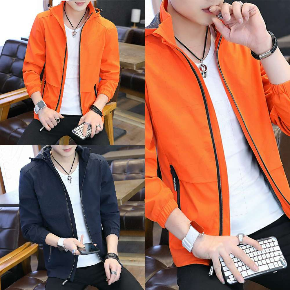 Fall stand up collar mens thin new Korean Edition 2020 jacket trend slim fit versatile handsome detachable Hooded Coat