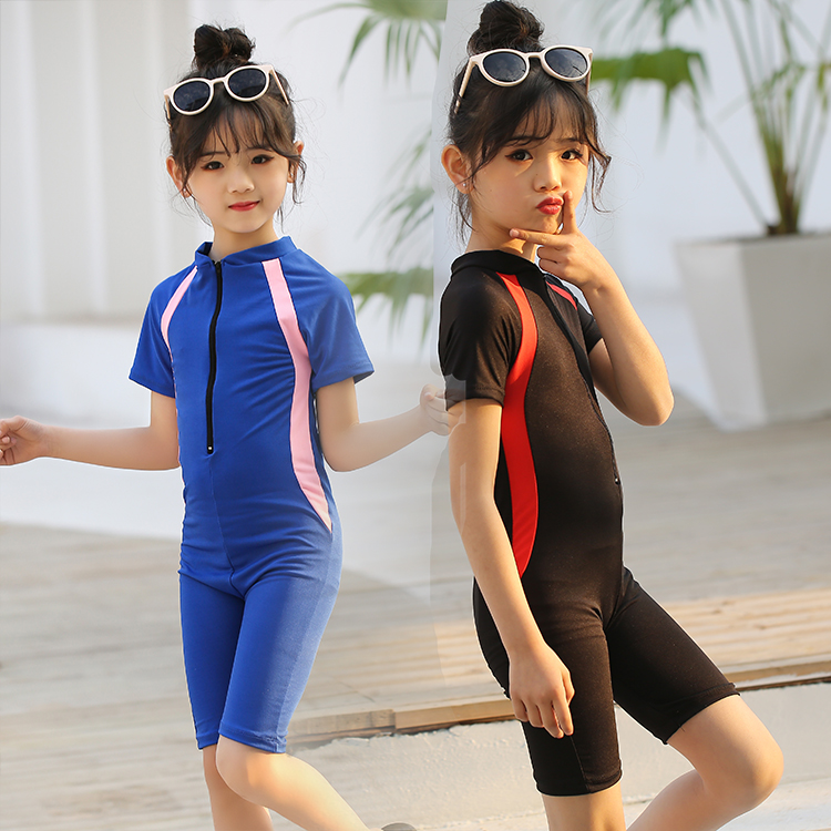 Girls diving suit princess one piece cute Korean children middle and big childrens swimsuit suit childrens swimsuit