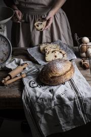 北欧风家居布艺装饰餐巾棉麻英文美食摄影道具亚麻图片
