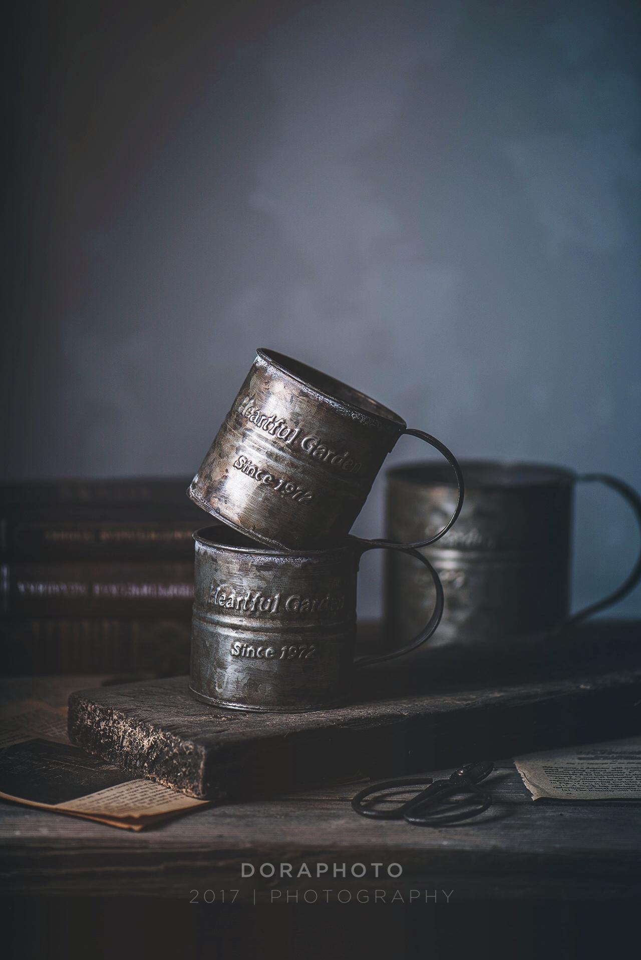 Дора фотография реквизит ретро английский печать железо цветок баррель обрабатывать сделать старый обрабатывать чашка