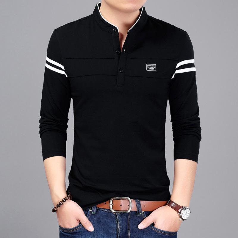 圣罗兰ysl男士t恤长袖纯色打底衫男小衫男装外套ZPK322