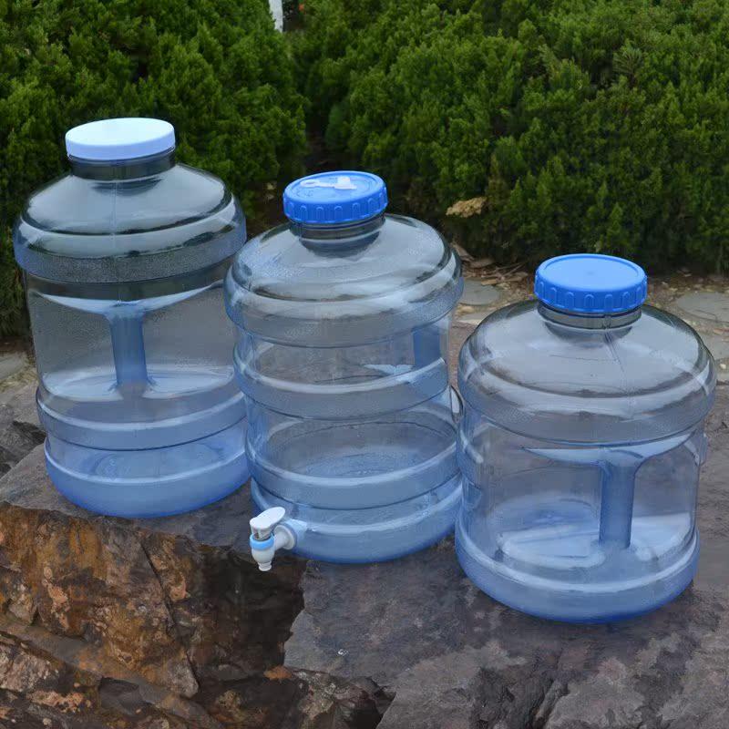 户外车载水桶带水龙头茶几家用存水自驾游矿泉水桶 加厚PC储水箱