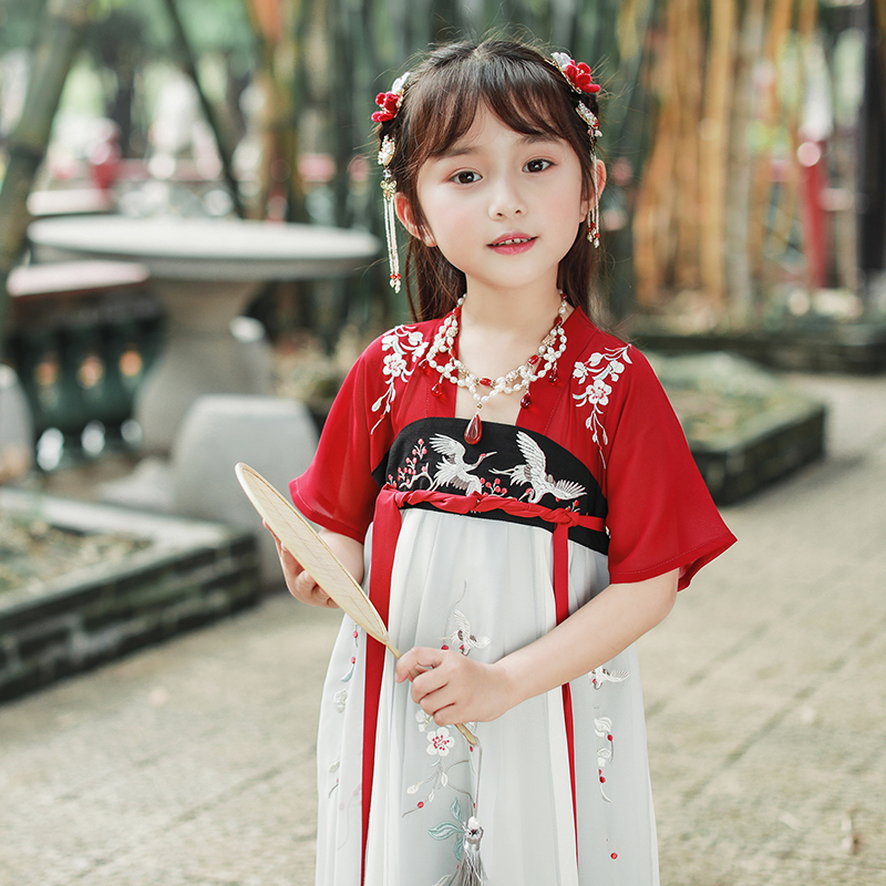 Original Chinese girl's dress with plum blossom chest dress with Chinese style
