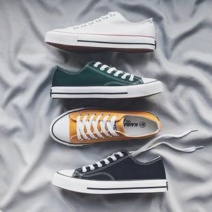 帆布鞋男韩版休闲板鞋百搭潮鞋低帮学生布鞋夏季小白鞋情侣鞋子男品牌