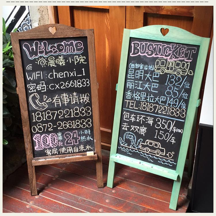 Ретро сделать старый войти коробка вертикальный маленький черный доска кофе дом чай магазин одежда магазин чистый бар почерк реклама доска