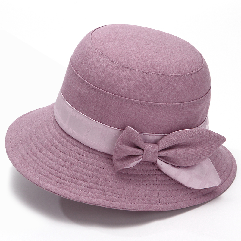 中老年人春秋天帽子女妈妈遮阳帽老人盆帽奶奶布帽夏天大檐渔夫帽