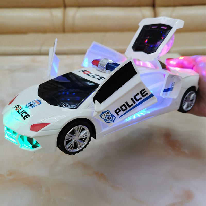 电动儿童汽车玩具生日礼物男孩女宝宝灯光音乐会跳舞旋转万向警车