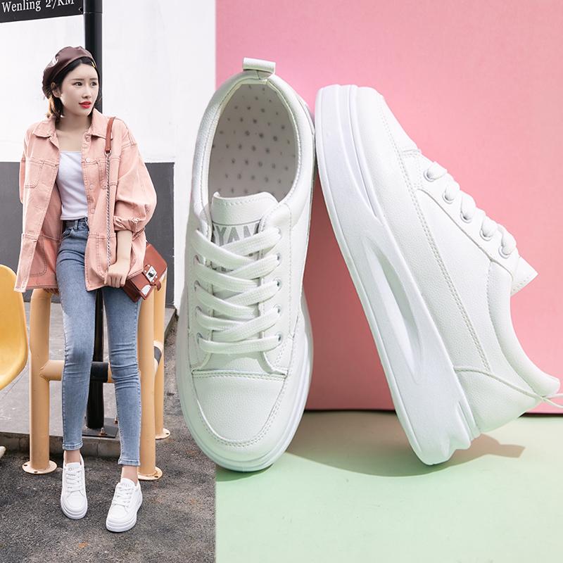 2019夏季新款百搭白鞋厚底松糕夏款板鞋韩版学生透气小白女鞋潮鞋