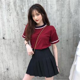 短袖t恤女2020年春夏季新款很仙的两件套女套装裙设计感小众上衣