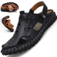 新款夏季男士透气真皮包头凉拖鞋好用吗
